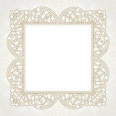 Lace frame in Eastern style. — Stock Vector