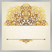 Vintage ornate card in east style. — Stockvector