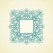 Ornate frame in Eastern style. — Stock Vector