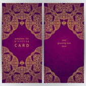 Vintage ornate cards in oriental style. — Vettoriale Stock