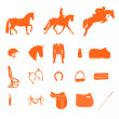 Horse icons — Stock Vector #40062159