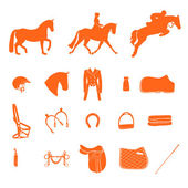Horse icons — Stockvektor