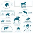 Set of vector icons with horse equipment — Stock Vector #40298265