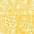 Seamless hand drawn pattern with tiles — Stok Vektör