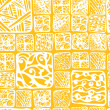 Seamless hand drawn pattern with tiles — ストックベクタ
