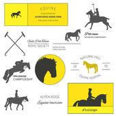 Horse label set — Stockvektor