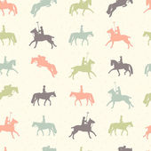 Beautiful seamless pattern with horse silhouettes — Stock Vector