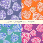 Set of four abstract seamless patterns — Stock Vector