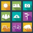 Set of camping icons.  — Stock Vector #42044703