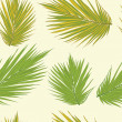 Realistic palm tree leaves seamless background. Floral texture. — Stock Vector #42054779