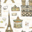 Perfect Paris seamless pattern — Vecteur