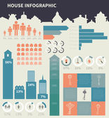 House infographic elements — Vettoriale Stock