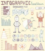 Hand drawn infographic elements — Vettoriale Stock
