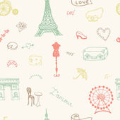 Perfect Paris seamless pattern — Stock Vector