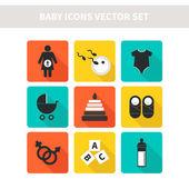 Icone del bambino — Vettoriale Stock