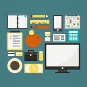 Freelance vector objects — Stock Vector