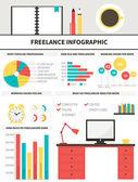 Freelance infographic — Stock Vector