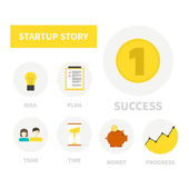 Startup icons — Stock Vector