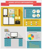 Freelance infographic — Stock vektor
