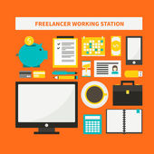 Freelance objects — Stock Vector