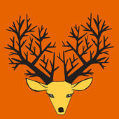 Beautiful  deer — Stock Vector