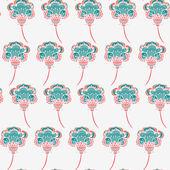 シームレスな花柄 — ストックベクタ