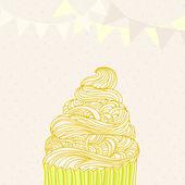 Söt cupcake — Stockvektor