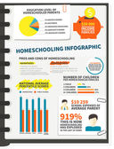 Homeschooling infographic — Stock Vector