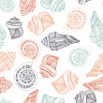 Seashell Seamless Pattern — Stock Vector #47489475