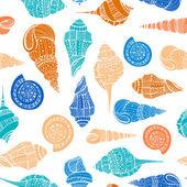 Seashell Seamless Pattern — Stock Vector
