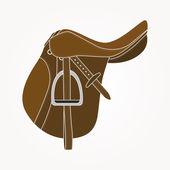 Horse Saddle — Stock Vector
