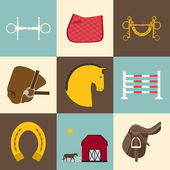 Horse Icons — Stock Vector