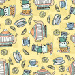 Tea Cups Seamless Pattern — ストックベクタ #50904179