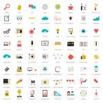 SEO icons big set — Stock Vector