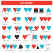 Different types of love — Stock Vector #50905269