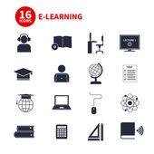 E-Learning Icons — Stock vektor