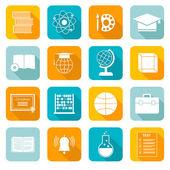 School Subject Icons — Stock Vector