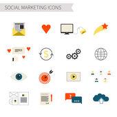 Social Marketing Icons — 图库矢量图片
