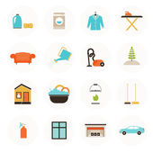 Housekeeping Icons — Stock Vector