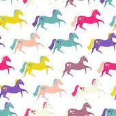 Horses Seamless — Stock Vector