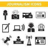 Journalism Icons Set — Stock Vector