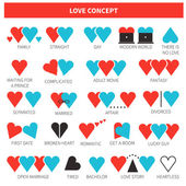 Different types of love — Stock Vector