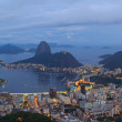 Rio de Janeiro view of Sugarloaf after sunset, Brazil — Stock Photo