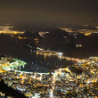 Stock Photo: Night view of Sugarloaf in Rio de Janeiro Brazil