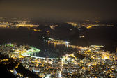 Night view of Sugarloaf in Rio de Janeiro Brazil — Stock Photo