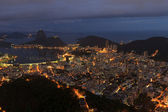 Night view of Sugarloaf Rio de Janeiro — Stock Photo