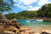 Hidden small beach Caxadaço, Ilha Grande, Brazil — Stockfoto