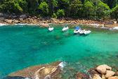 The cove of hidden beach Caxadaço, Ilha Grande, Brazil — Stockfoto