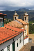 Church Igreja de nossa senhora do carmo in Ouro Preto. Vertical — Stock Photo
