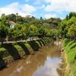 Streets and river of Petrópolis, Brazil — Stock Photo